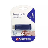 Memoria Usb Verbatim Retractable Usb 2.0 16gb Azul