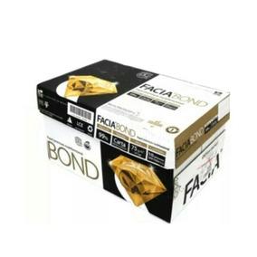 Caja De Papel Premium Facia Bond Carta Blancura 99% 75 G/m2