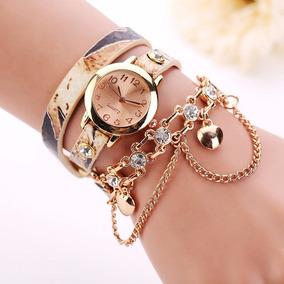Relógio E Pulseira Feminino Tipo Bracelete Dk9 -rel