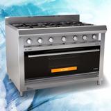 Cocina Morelli Mr Cheff 1100 T. Vidrio 4 Hornallas + Plancha
