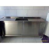 Pia Bancada Inox1,9 X 60 X 90alt C/armario /cuba 12v S/juros