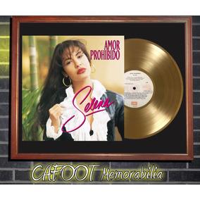 Selena Quintanilla Amor Prohibido Tapa Lp Y Disco Oro Marco