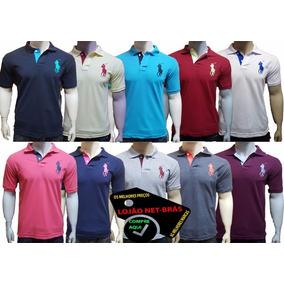 Kit 5 Camiseta Camisa Gola Polo Masculina Revenda Atacado