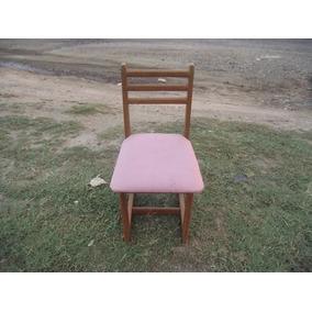 Antiga Cadeira De Madeira Infantil (c-097)