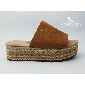 Sandalias Plataforma Marca Beira Rio Color Marrón