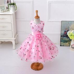 Lindo Vestido De Festa Infantil Daminha Casamento Batizado