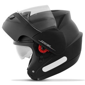 Capacete Robocop Attack Solid Pro Tork Moto Preto Fosco