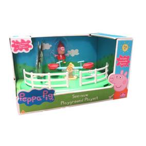 Peppa Pig Juego De Plaza Sube Y Baja ! Jugueteria Bunny Toys