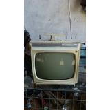 Televisão Antiga Admiral Aquarela Funcionando Sem Imagem