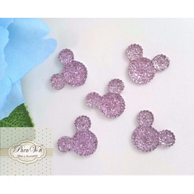 Minnie Mickey Apliques X10 Strass Centros Candys Decoracion