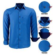 Camisa Social Masculina Tecido Não Amassa Magneto Luxo 3002