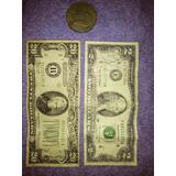 Billete De 20$ - Billete De 2$ - 1 Moneda De Plata De 1$