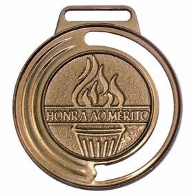 Medalha Honra Ao Mérito 40mm C/ Fita Futebol Torneio