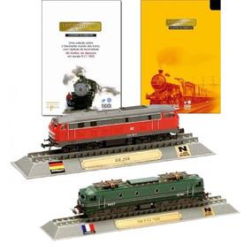 Kit 2 Miniatura Locomotivas Do Mundo Trem Delprado N 1:160
