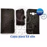 Capa Capinha Case Flip Carteira Galaxy S3 Slim 3812 Película