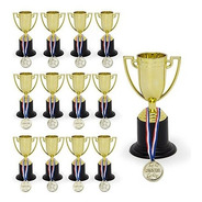 Increíble Conjunto De 12 Trofeos De 4 Pulgadas Y 12 Medallas