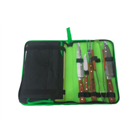 Kit Churrasco Inox Full Tang Estojo Avental Tábua - Palisad