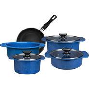 Batería De Cocina Línea Cocinova 8 Piezas Cinsa Azul Real