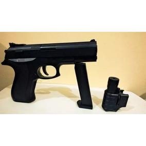 Pistola Replica 9mm Glock Con Laser Balines (17cm)