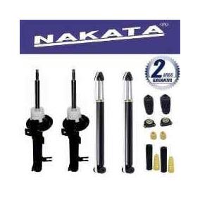 Kit 4 Amortecedor Fiesta Hatch Sedan 2010 Nakata + Kits Bate