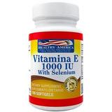 Vitamina E 1000 Iu With Selenio X100 Softgels