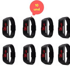 Kit 10 Relogios Bracelet Led Watch Revendedor Atacado Adulto