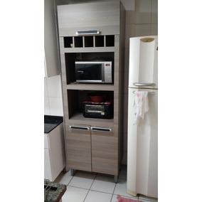 Armário De Cozinha 3 Portas/espaço Forno Elétrico/microondas