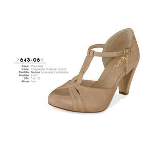Zapatillas Color Maquillaje Linea Confort 643-08 Cklass