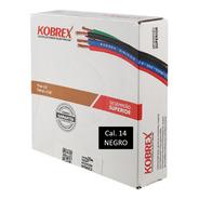 Caja 100 Mts Cable Negro Cal 14 Awg Kobrex Vinikob 100%cobre