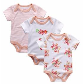 Roupa Roupinha Bebê Body Macacão Conjunto 3 Peças