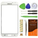 Samsung Galaxy J7 J700f Blanco Reemplazo De La Lente De Cri