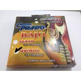 Cuerdas Bajo Quinto Prado 12-10 Negras Hechas En México