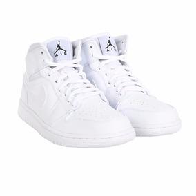 Tênis Nike Air Jordan 1 Mid Branco Masculino