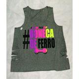 Camisetas Regata Feminina Malhação Zumba Atacado 5 Peças