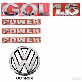 Emblemas Gol 1.6 Power + Laterais + Vw Grade - G4 Geração 4
