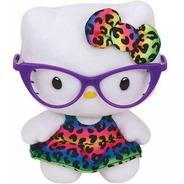 Pelúcia Hello Kitty Óculos Beanie Babies- Dtc Ty Original