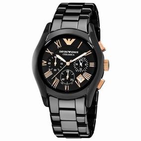 Relógio Emporio Armani Ar1410 Preto E Rosê Novo Promoção
