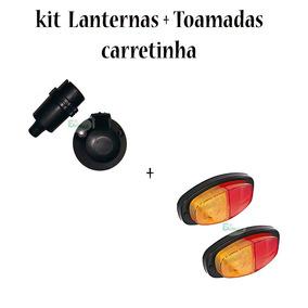 Kit Par Lant. + Jogo De Tomadas 6 Polos Carretinha Reboque