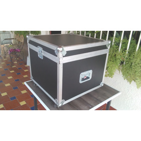 Hard Case Rack Con Accesorios Discplay Miniteca Luces Dj