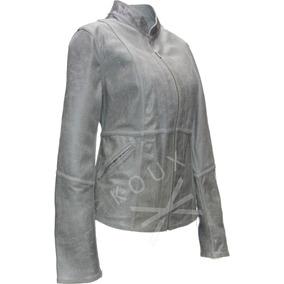 Campera De Cuero Dama Vestir Cabra Premium - Fábrica Koux