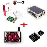 Raspberry Pi 3 B Pantalla Touchscreen Carcasa Acrilico Elec4