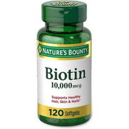 Biotin 10.000 Mcg Nature's Bounty 120 Softgels
