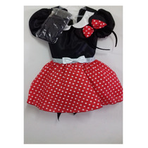 Disfraz Vestido Niña Tipo Minnie Mouse Mimi Disney