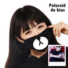 Máscara Kpop - Ursinho Kumamon + Polaroid Do Seu Bias