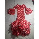 Vestido Flamenco Para Niña 7 A 10 Años (disfraz)