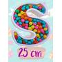Letras Huecas Polifan 25 Cm Candy Bar