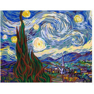 Pintura Numerada Noite Estrelada  Inspiracao - Van Gogh