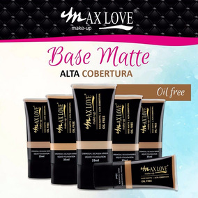Base Matte Alta Cobertura Oil Free Max Love 35 Ml
