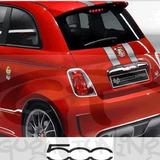 Faixa Fiat 500 695 Tributo Ferrari Material Importado Oracal