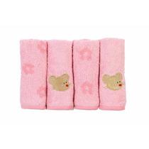Toalhinha De Boca Para Bebês Rosa 100% Algodão - Lepper